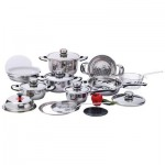 Chef's Secret® 22pc 12-Element, High-Quality, Heavy-Duty Stainless Steel Waterless Cookware Set